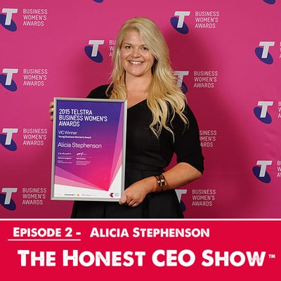 Alicia Stephenson, the 2015 Victorian Telstra Young Business Woman of the Year